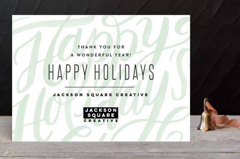 modern lettering business holiday cards - Business Holiday Cards With Logo