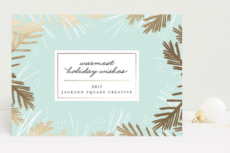 Shiny Pine Business Holiday Cards