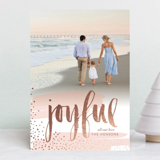 Very Joyful Foil-Pressed Holiday Petite Cards