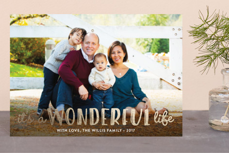 Life Is Wonderful Foil-Pressed Holiday Petite Cards