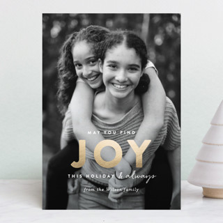 finding joy Foil-Pressed Holiday Petite Cards