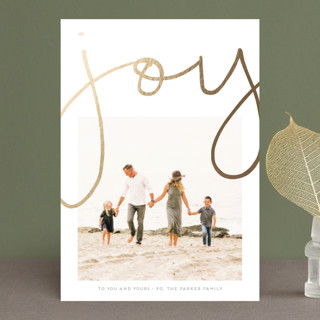 More Joy Foil-Pressed Holiday Petite Cards