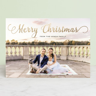 Stylish and Merry Foil-Pressed Holiday Petite Cards