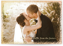 Holiday Frame Foil-Pressed Holiday Petite Cards