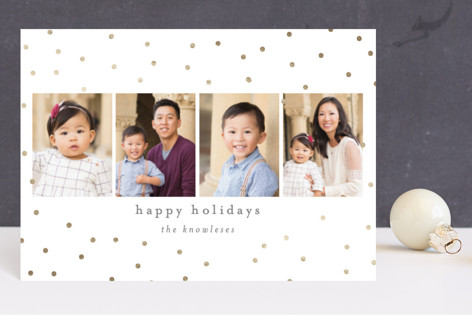 Merry Sparkle Foil-Pressed Holiday Petite Cards