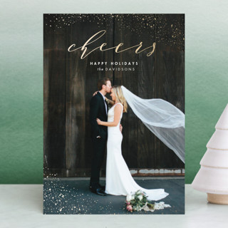 Dazzling Foil-Pressed Holiday Petite Cards