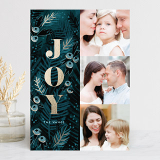 Holy Night Foil-Pressed Holiday Petite Cards