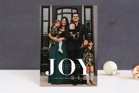 Joyful Hearts Foil-Pressed Holiday Petite Cards