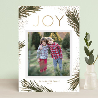 Gilded Branches Foil-Pressed Holiday Petite Cards