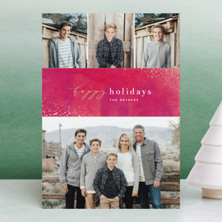 Sparkling Wine Foil-Pressed Holiday Petite Cards