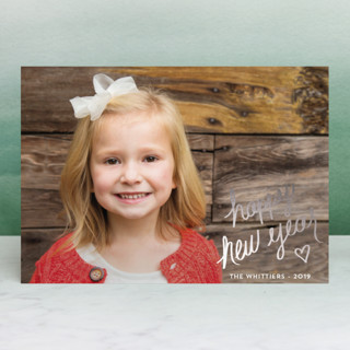 Signature Foil-Pressed Holiday Petite Cards