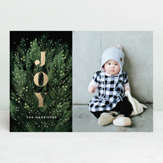 A Beautiful Time Foil-Pressed Holiday Petite Cards