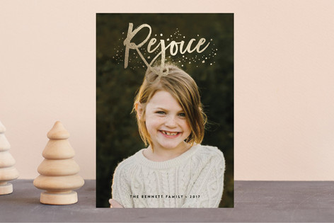 Rejoice Foil-Pressed Holiday Petite Cards