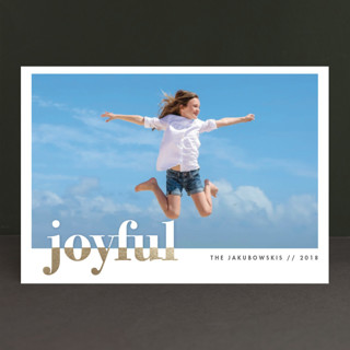 bountiful joy Foil-Pressed Holiday Petite Cards