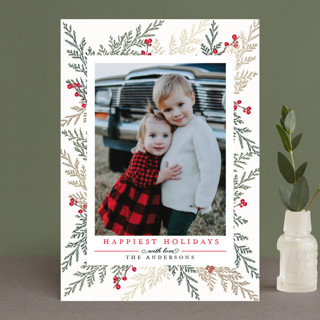 Christmas Blessings Foil-Pressed Holiday Petite Cards