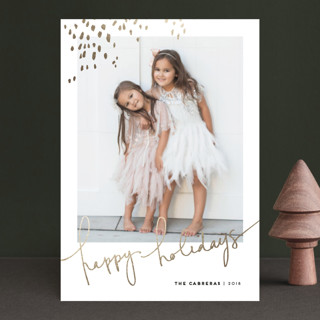 Let Love Shine Foil-Pressed Holiday Petite Cards