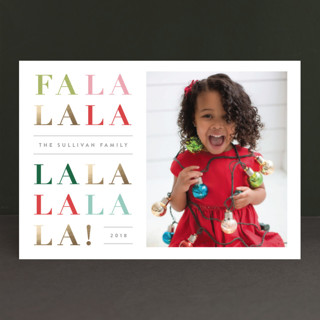 Singalong Foil-Pressed Holiday Petite Cards
