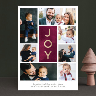 Joy x Seven Foil-Pressed Holiday Petite Cards
