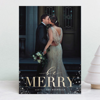 Timeless Foil-Pressed Holiday Petite Cards