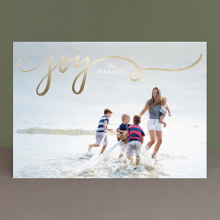 twirl Foil-Pressed Holiday Petite Cards
