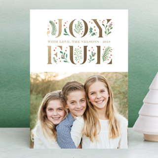 Blooming Joy Foil-Pressed Holiday Petite Cards