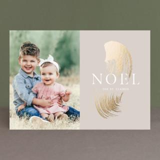 Brushed gold leaf Foil-Pressed Holiday Petite Cards
