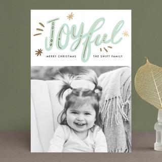 joyfully gilded Foil-Pressed Holiday Petite Cards