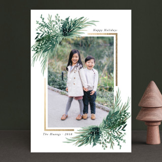 Eve Foil-Pressed Holiday Petite Cards