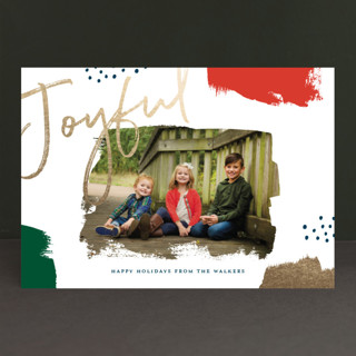 Brushes Foil-Pressed Holiday Petite Cards