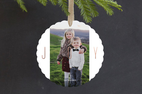 Pillars of Joy Foil-Pressed Holiday Ornament Cards