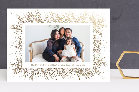 Amazing Frame Foil-Pressed Holiday Cards