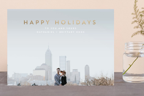 Urban Holiday Foil-Pressed Holiday Cards