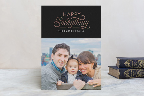 Everything Chic Foil-Pressed Holiday Cards