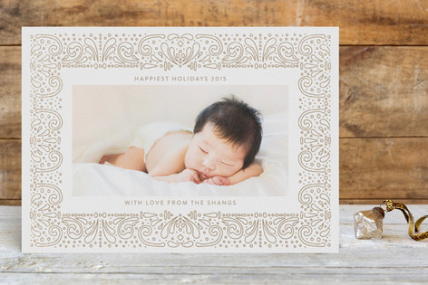 Hand drawn Picture Frame Foil-Pressed Holiday Cards