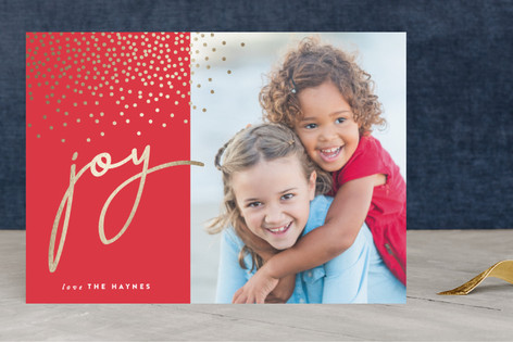 Radiant Joy Foil-Pressed Holiday Cards