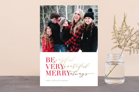 holiday trio Foil-Pressed Holiday Cards