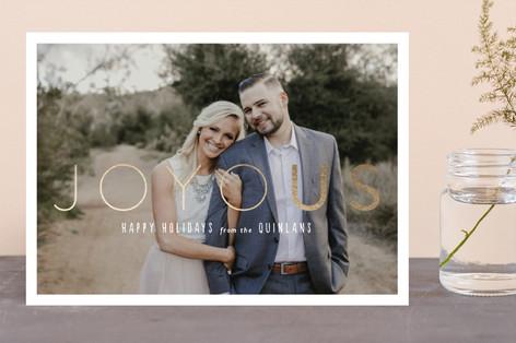 Joy + Us Foil-Pressed Holiday Cards