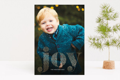 Shimmering Joy Foil-Pressed Holiday Cards