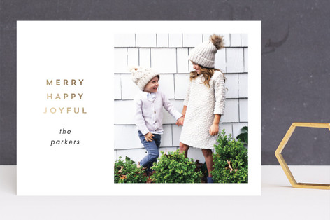 Simply Special Foil-Pressed Holiday Cards