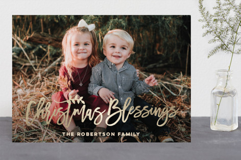 Blessings for Christmas Foil-Pressed Holiday Cards