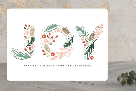 Woodland Joy Foil-Pressed Holiday Cards