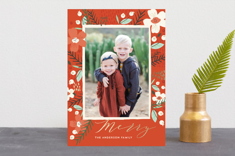 Wild Mistletoe Foil-Pressed Holiday Cards