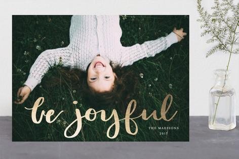 gilded be joyful Foil-Pressed Holiday Cards