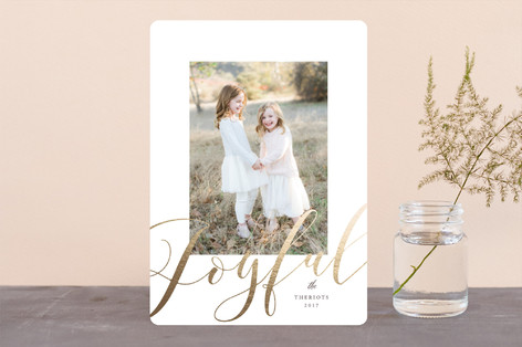 Joyful in gold Foil-Pressed Holiday Cards