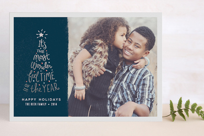 Most Wonderful Time Foil-Pressed Holiday Card | Minted