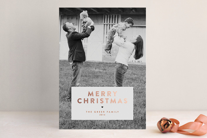 Gilded Christmas Foil-Pressed Holiday Card | Minted