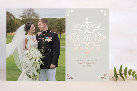 Snow Fancy Foil-Pressed Holiday Cards