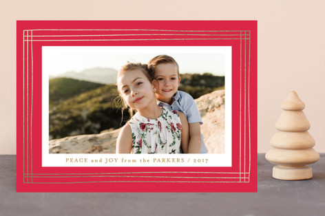 Gallery Border Foil-Pressed Holiday Cards