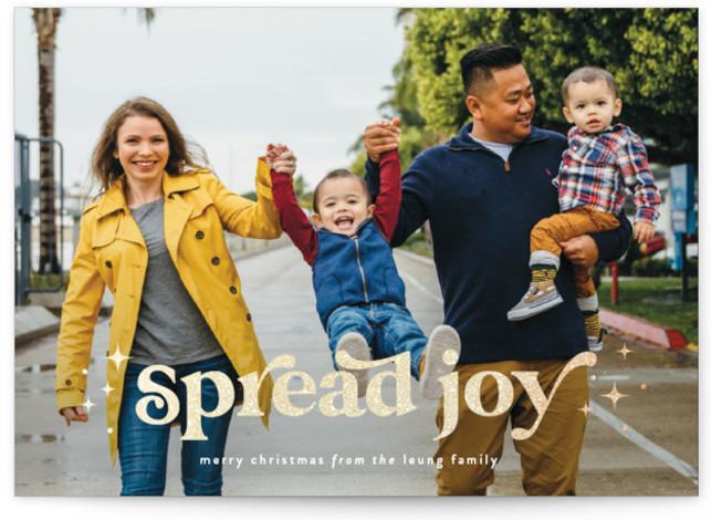 Spread Joy Foil-Pressed Holiday Cards