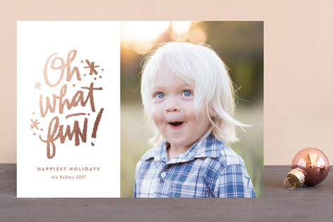 Fun abounding Foil-Pressed Holiday Cards